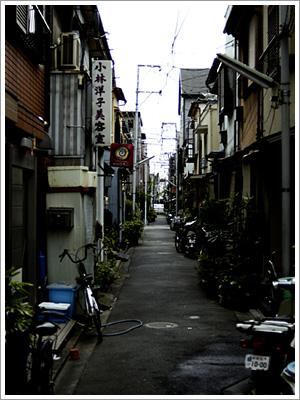 佃島の路地裏